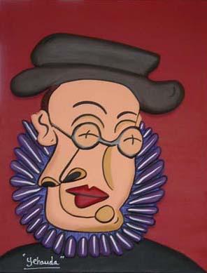 """""""Yehouda"""" - 65 x 50 - Bas-relief sur toile - 2002"""