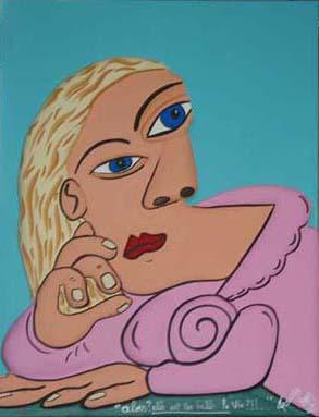 """""""Alors, elle est pas belle la vie ?!?"""" - 65 x 50 - Bas-relief sur toile - 2002"""