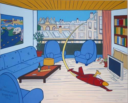 """"""" Les Demoiselles d'Avignon """" - 100cm X 81cm - Acrylique sur toile - 2004"""