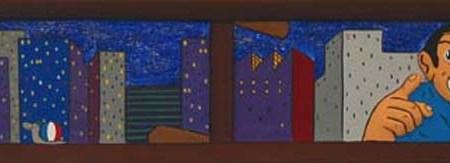 """42 M"" - 132 x 32,5 cm - Bas-relief - 2003"
