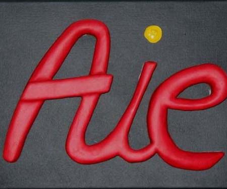 """""""Aie"""" - 35 x 27 cm - Bas-relief sur toile - 2003"""