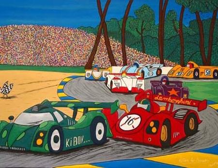"""""""Allez les Smarties"""" - 162 x 114 cm - Bas-relief sur toile - 2003"""