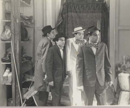 1979 - Farid Chopel, Hervé Di Rosa, Ged Marlon et moi-même