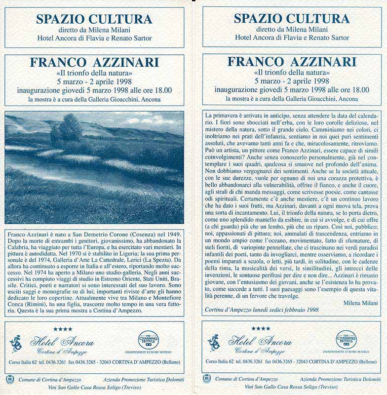 Franco Azzinari - Il trionfo della natura