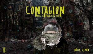 Contagion, contemporary classical Covid-19 pandemic inspired music album wide image CD Cover