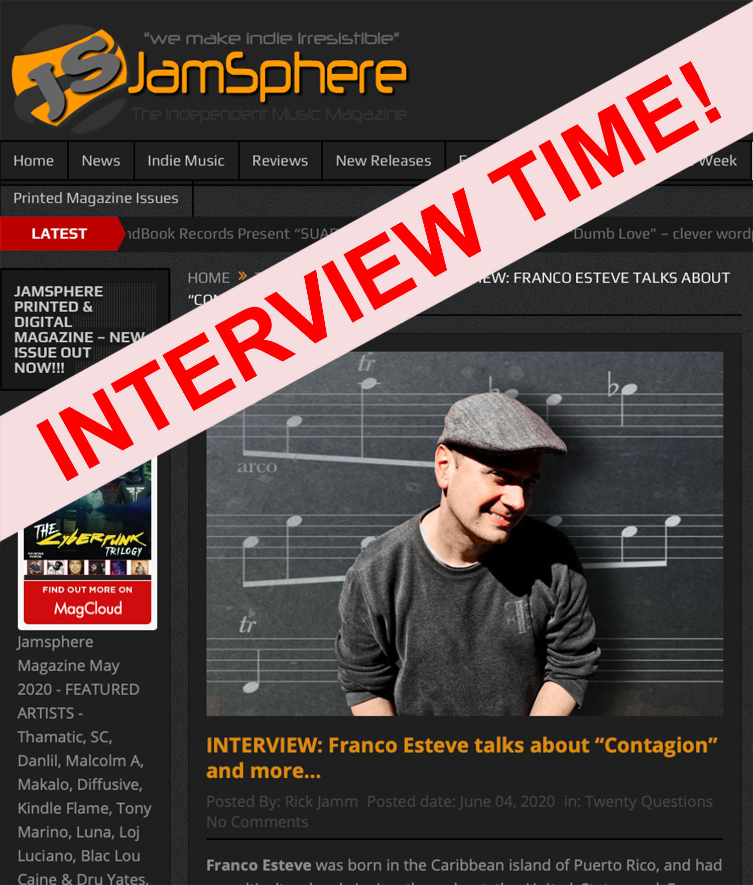 Interview Time Check Out My Contagion Interview On Jamsphere Franco Esteve