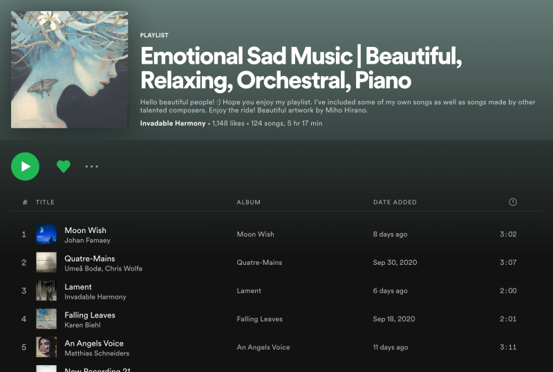 Death is Not the End on Invadable Harmony's Wonderful Spotify Playlist Image
