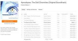 Apocalypse Soundtrack Pre-order on ITunes image