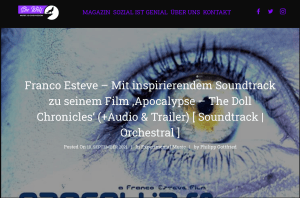German music magazine, She Wolf has reviewed the Apocalypse: The Doll Chronicles Soundtrack image