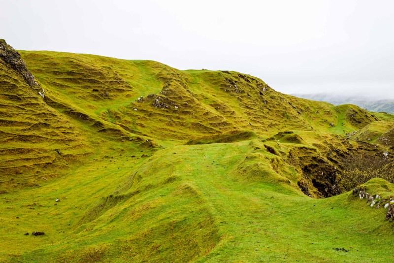 Les collines de Fairy Glen