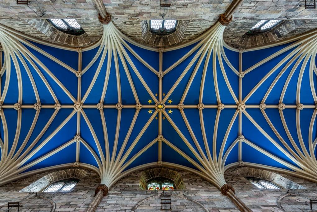 Le plafond de la cathédrale Saint Gilles - Edimbourg - Ecosse