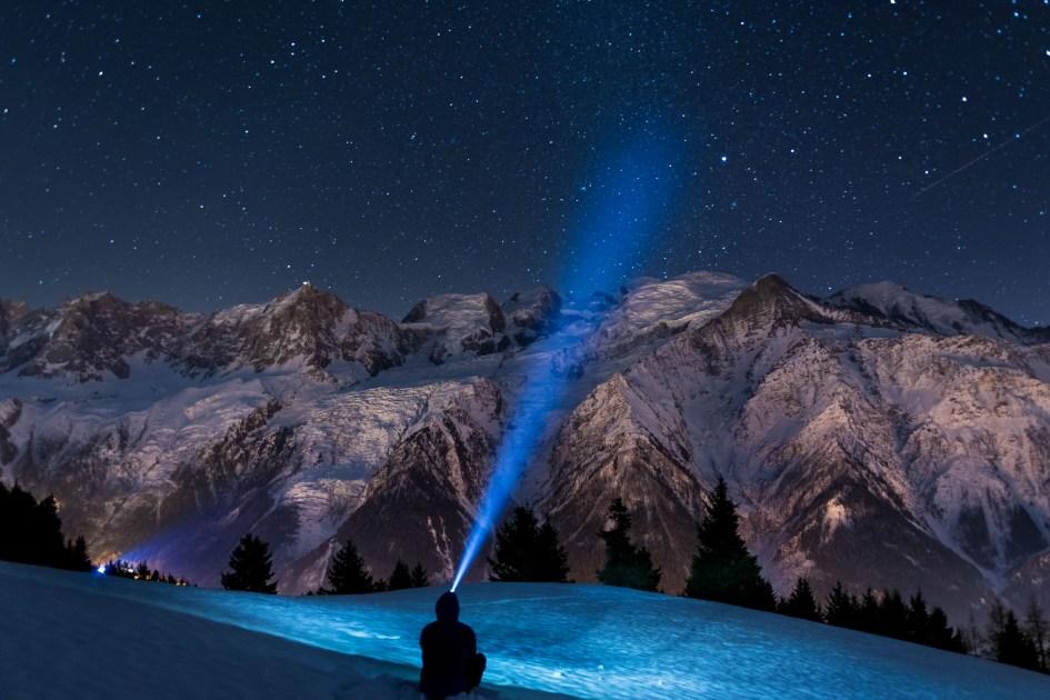 Une nuit face au Mont-Blanc