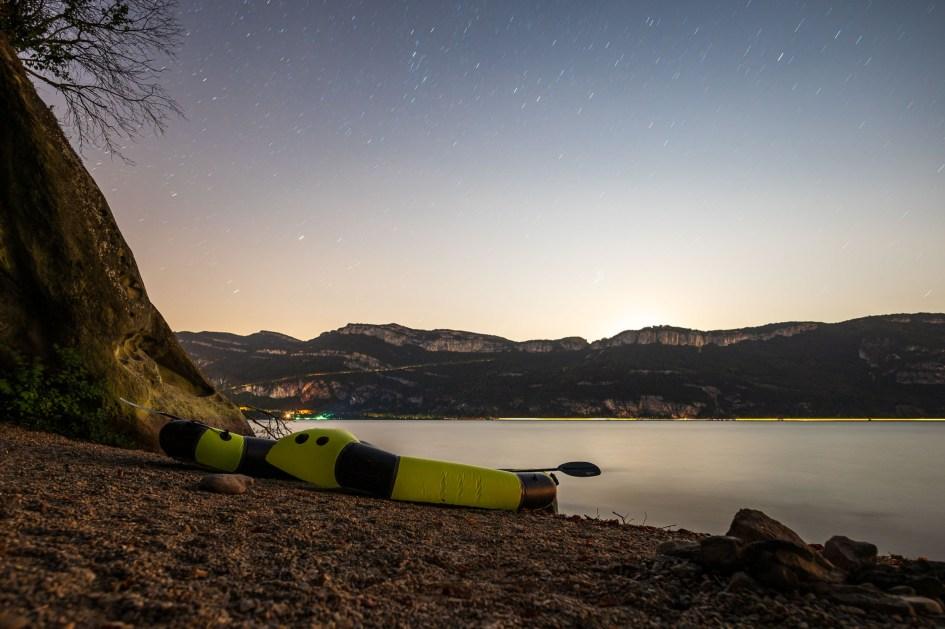 Les packafts au bord du lac du Bourget