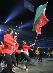 Paola Longoria was honored by carrying the flag for her country, Mexico, at the Opening Ceremonies of the Pan American Championships in Toronto, Canada.