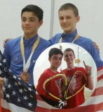 Mitchell Turner-2015 Junior World Championships - Boys 14 Doubles Bronze Medalist w partner Julian.