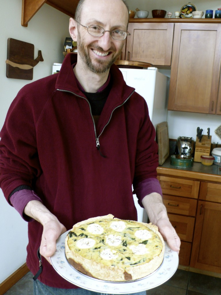 Jerome et sa quiche .(Jerome and his quiche.)