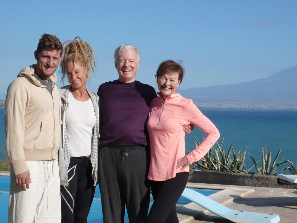 Drew, Ursula, Tom, and Ursula this morning after yoga