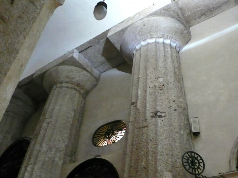 Greek Temple Pillars embedded in Siracusa's Cathedral.