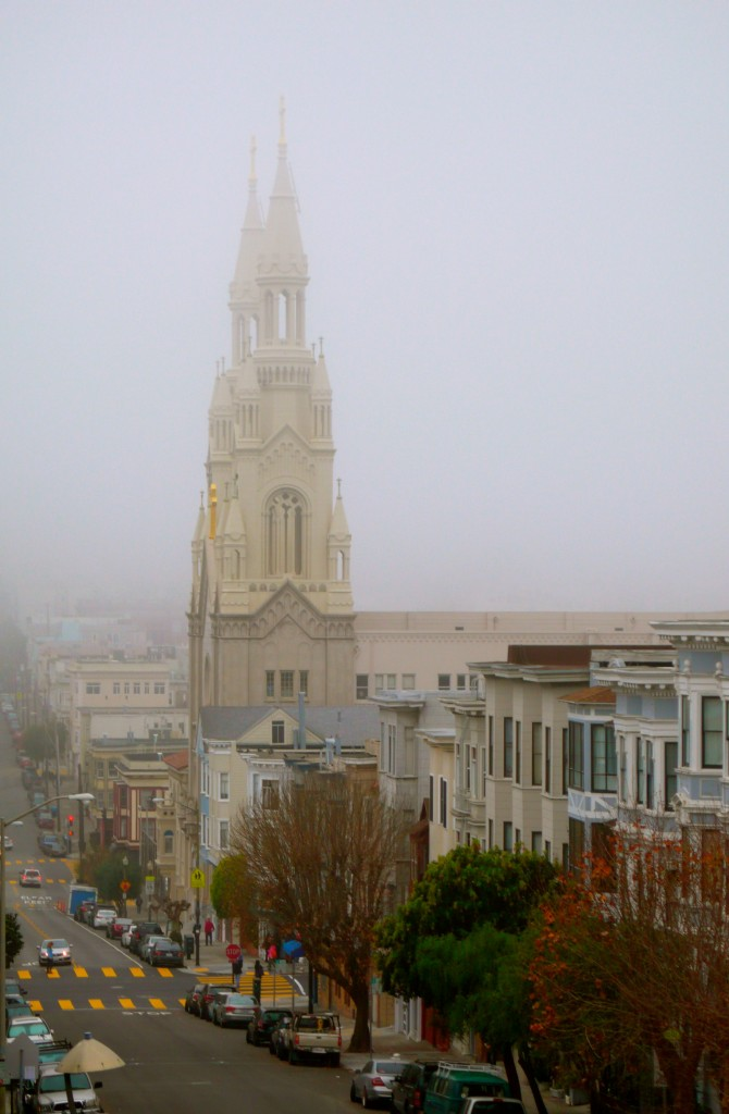 San Francisco in the morning fog today