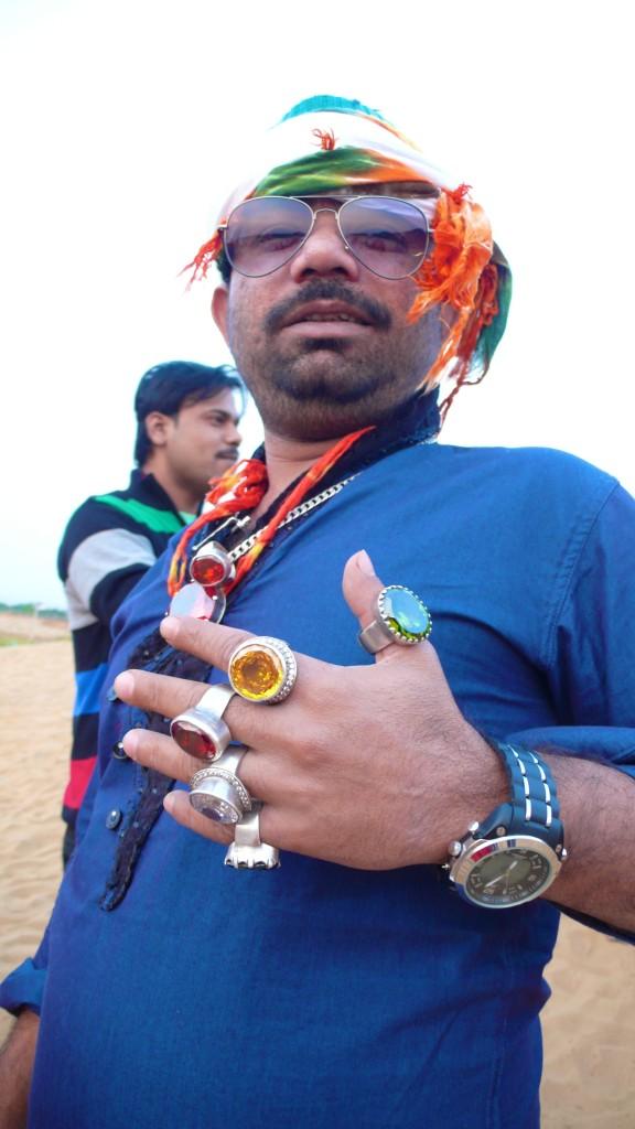 Mr. Bling in Pushkar (desert camel rides)