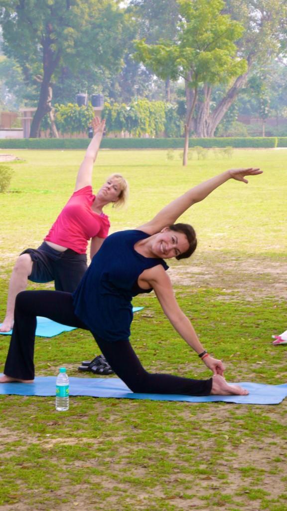 Yoga on the sacred grounds of Sarnath
