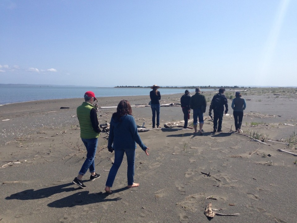 Walking the Pacific beach at Ocean Shores, WA for Earth Day 2015