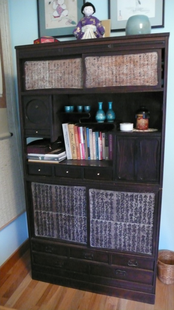 The first of many gifts and perhaps the most interesting gift of them all, an antique Japanese tea chest