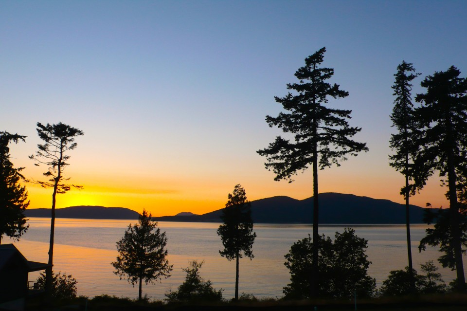 Sunset in Anacortes, along the Guemes Trail.  Does it get any better than this?