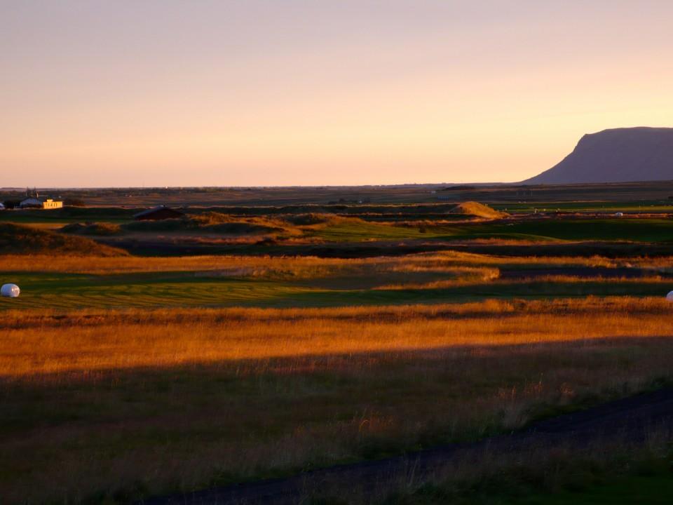 Landscape at Sunset from Minniborgir in Landmannalaugar