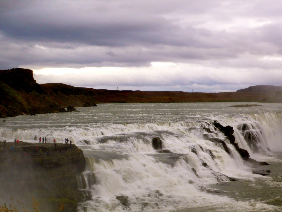 Gullfoss Falls (two immense waterfalls joined together)