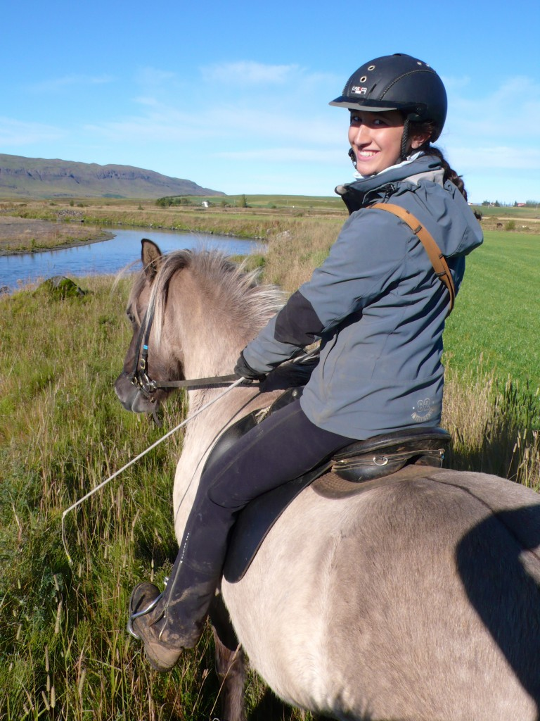 Our riding guide Noemi, from Switzerland