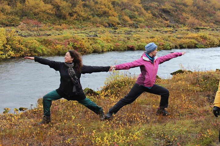 We seem to be Flying Warriors here.  Exhilarating to do yoga in Iceland!