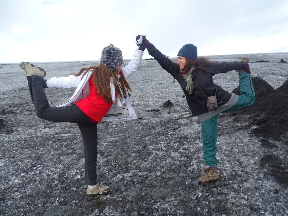 Dancers on Ice (the glacier)