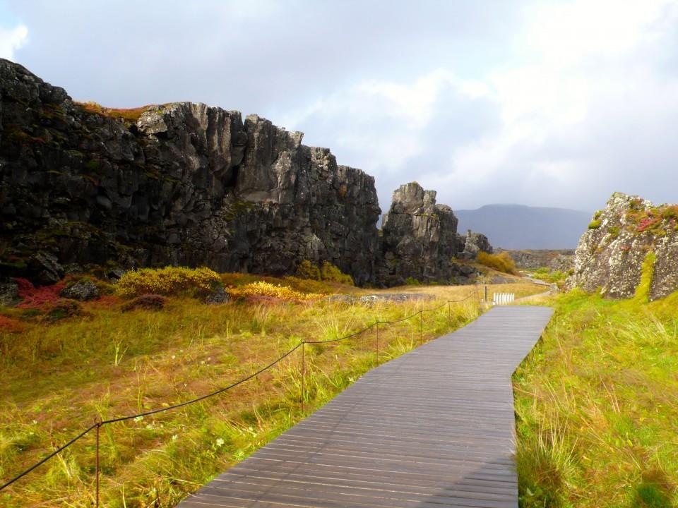 Walking along the Continental Drift at Thingviller