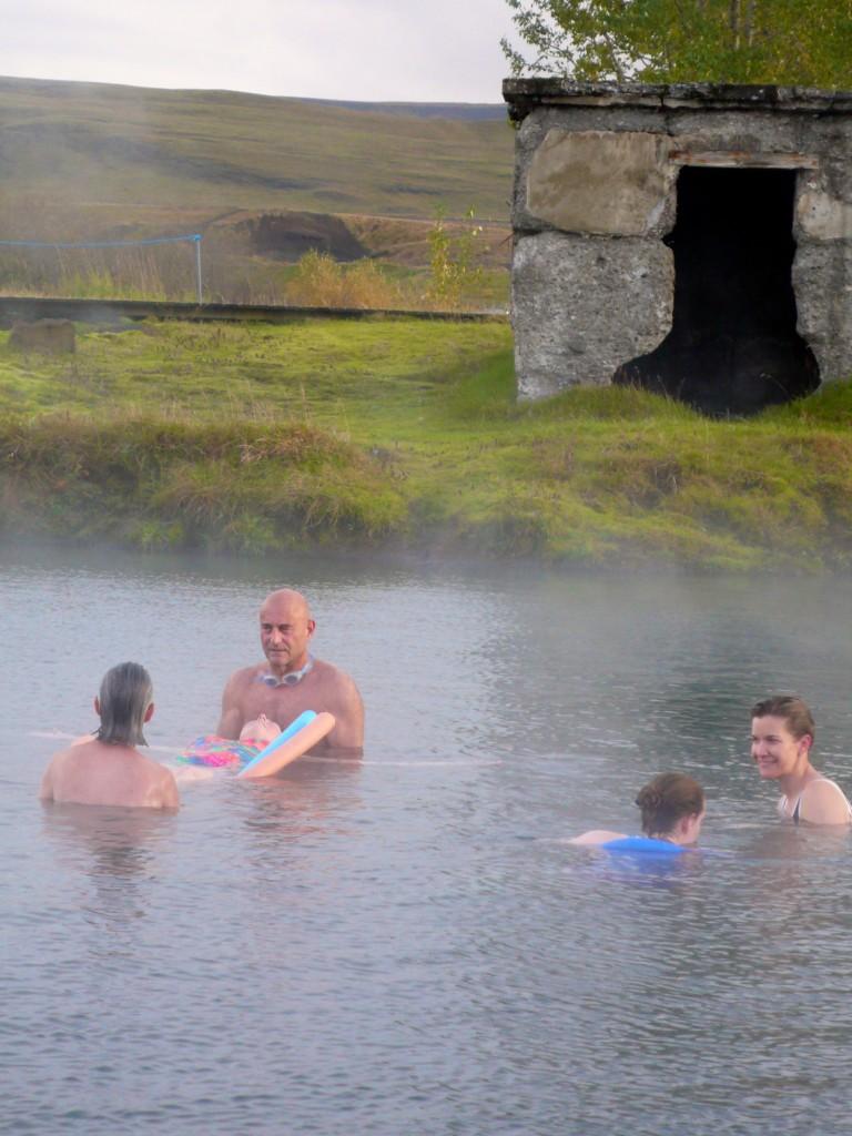 Soaking in the Secret Lagoon!