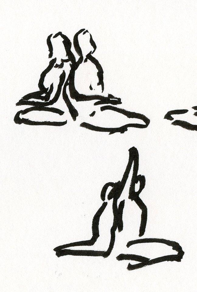 Back to Back Meditation (instead of Shavasana) kept our backs warm!
