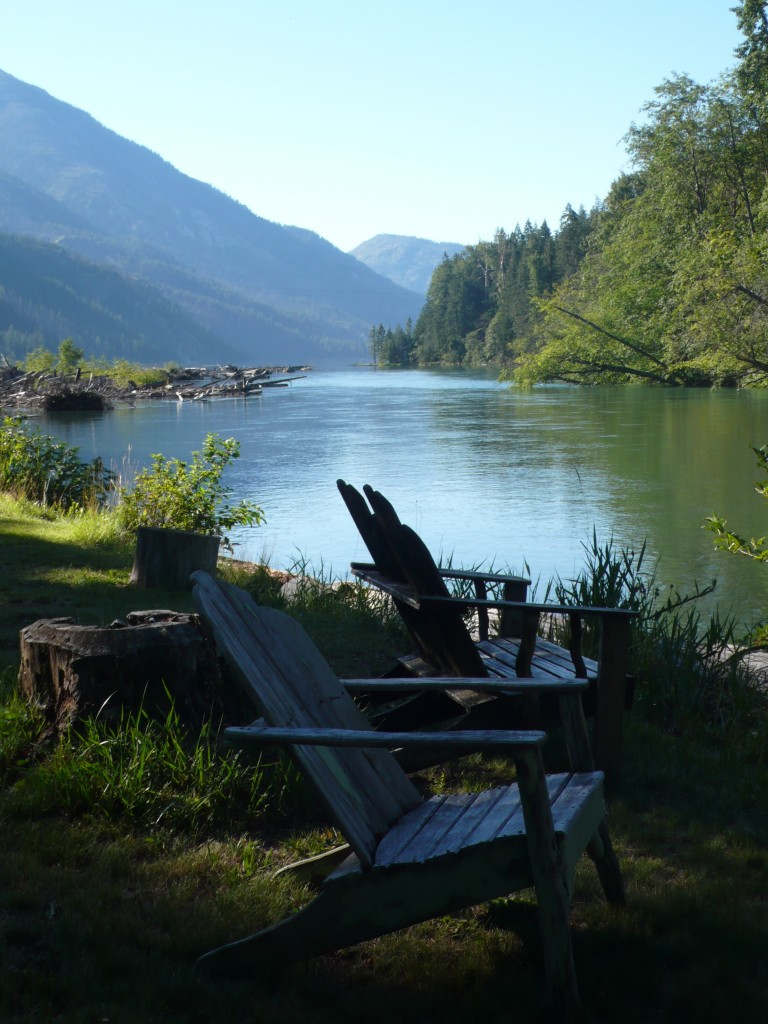 Relaxing at the cabin: Stehekin