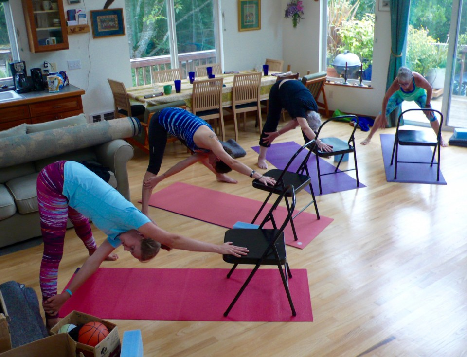 More yoga props: Backless Yoga Chairs!