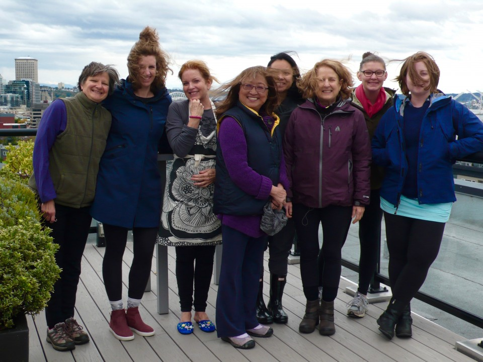 Windblown on the rooftop (Saturday's group)!