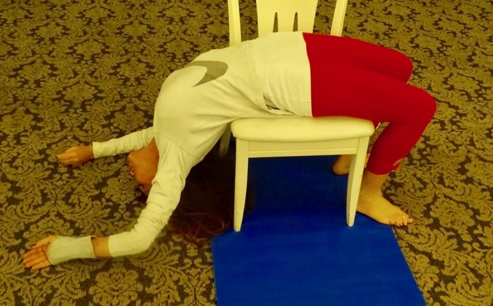 Deeper Backbends over a chair (Karin)