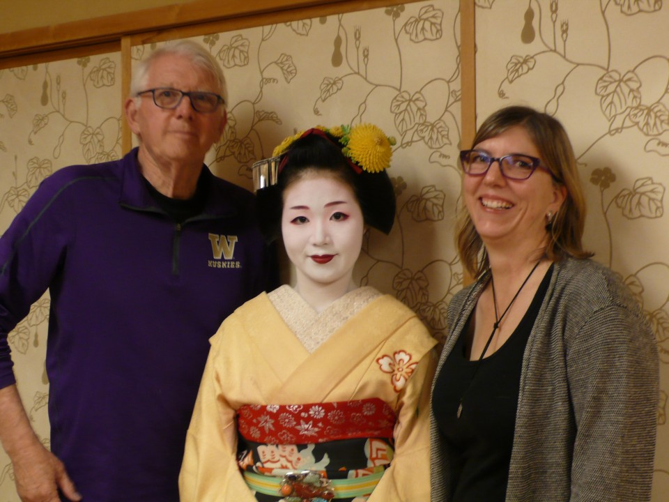 JD and Kim with the lovely Maiko-san