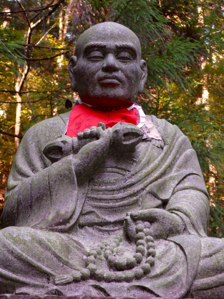 The great Buddhist Monk, Kobo Daishi Kukai. Koyasan (Mt Koya) was founded by him twelve centuries ago.