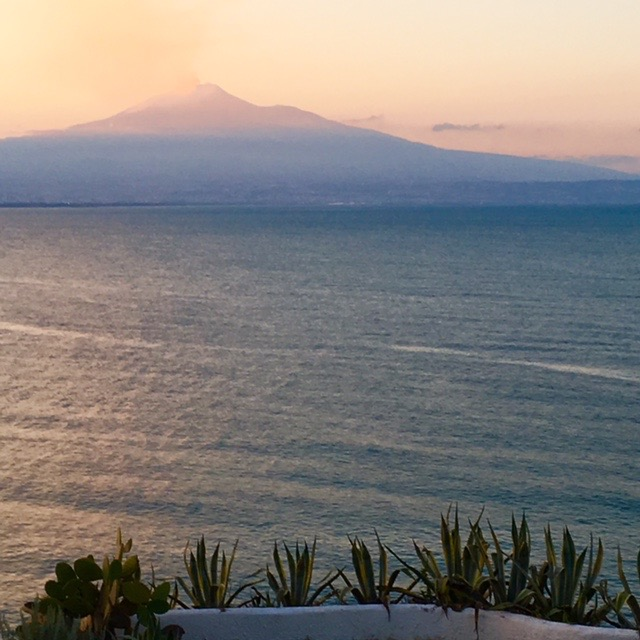 Mt Etna this evening, taken right after shavasana