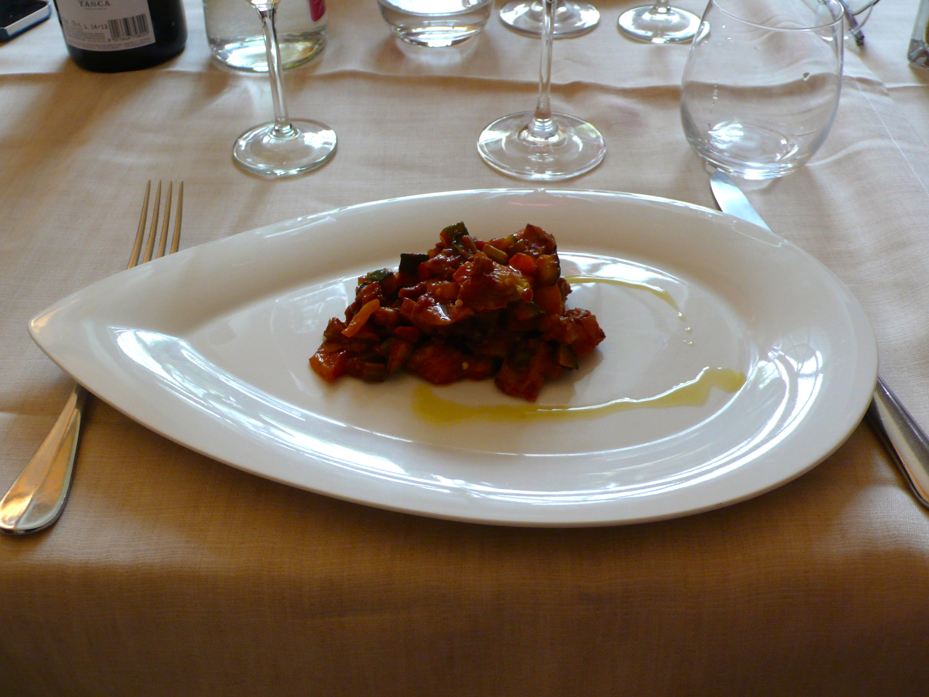 A serving of caponata. I can almost taste it!