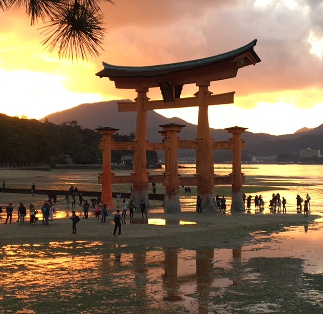 The main shrine on Miyajima Island.