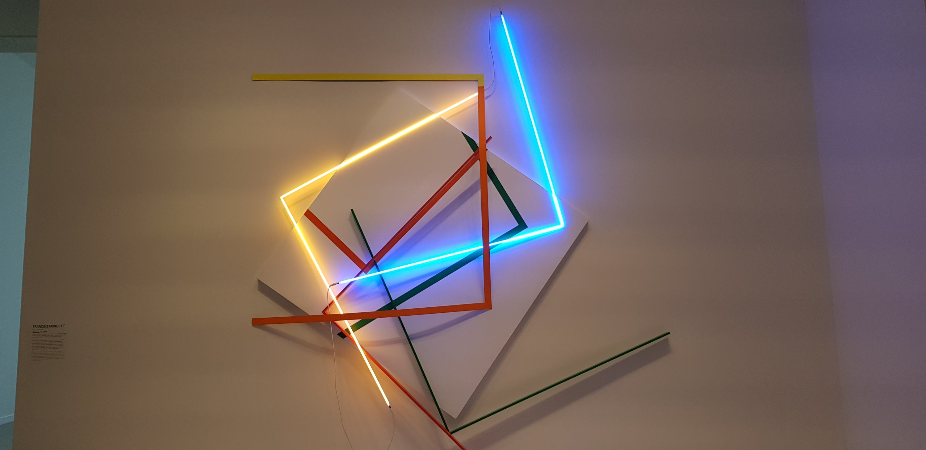 Light sculpture from the second exhibition at the Fondation Louis Vuitton