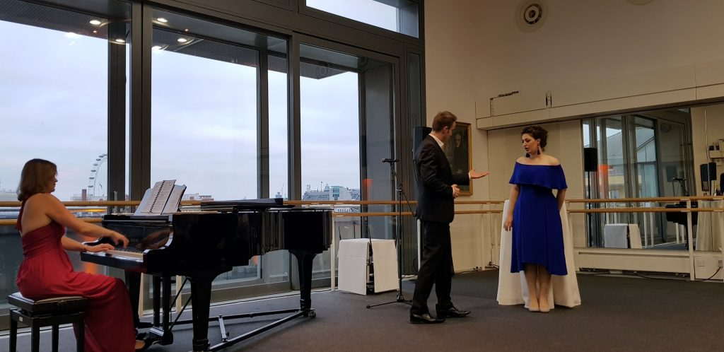 Duet at the private recital at The Royal Opera House