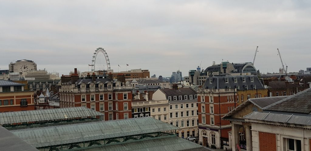 Above the Covent Garden rooftops from The Royal Opera House