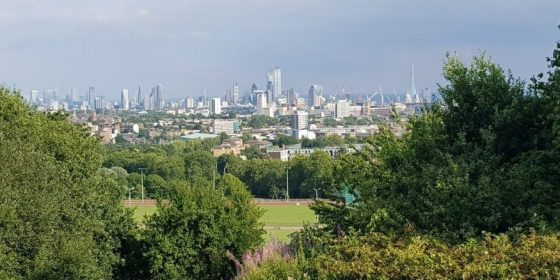 Parliament Hill view on Hampstead Heath