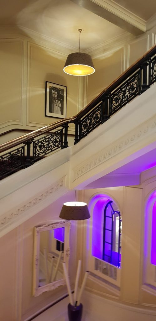 That impressive staircase at the Amba Hotel in London